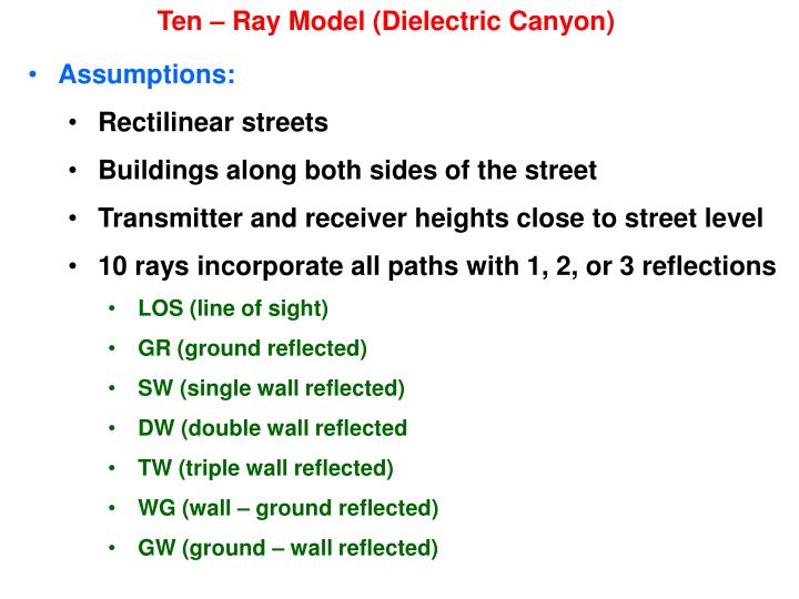 Ten – Ray Model (Dielectric Canyon)