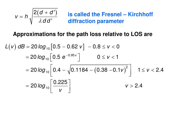 is called the Fresnel – Kirchhoff diffraction parameter