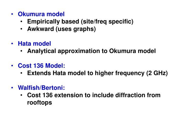 Okumura model