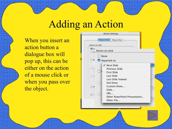 Adding an Action