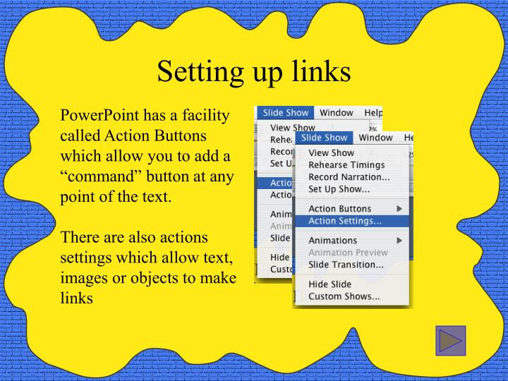 Setting up links
