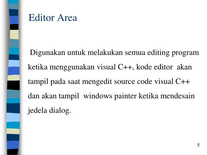 Editor Area