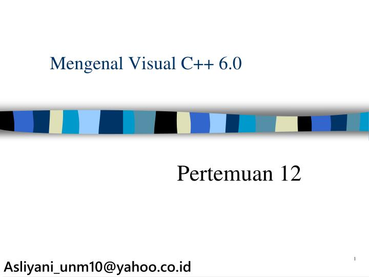 Mengenal visual c 6 0