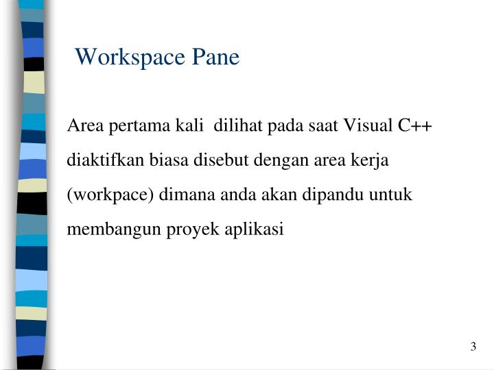 Workspace pane