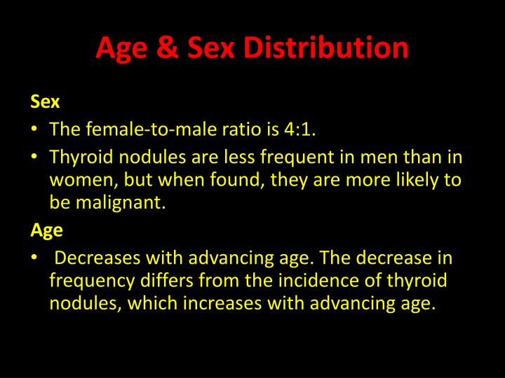 Age & Sex Distribution