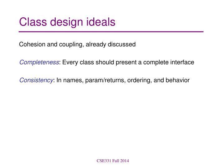 Class design ideals