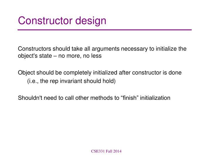 Constructor design