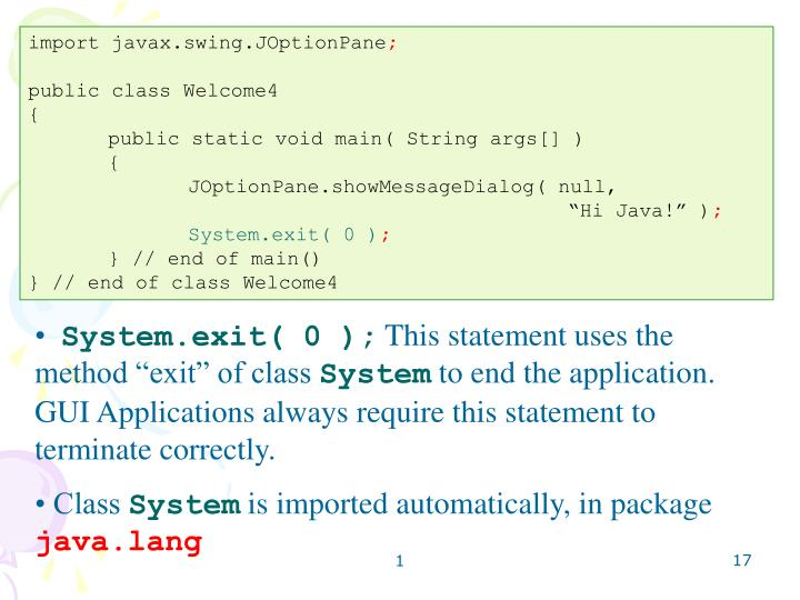 import javax.swing.JOptionPane