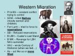 western migration