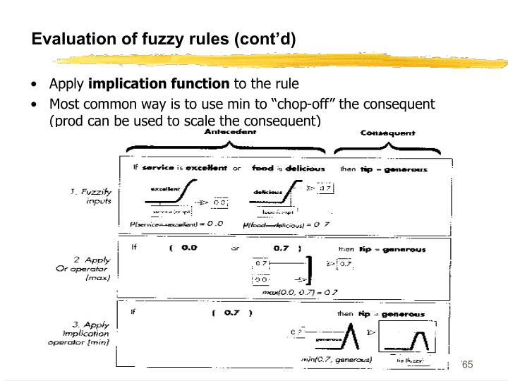 Evaluation of fuzzy rules (cont'd)