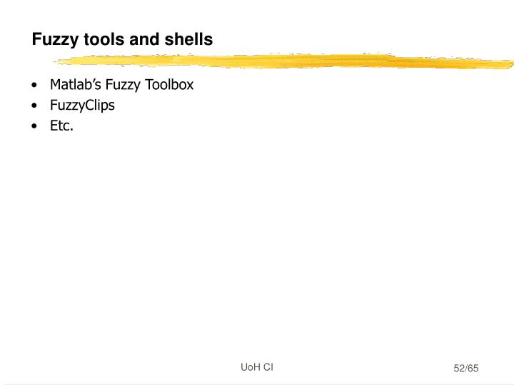 Fuzzy tools and shells