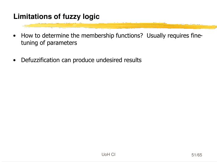 Limitations of fuzzy logic