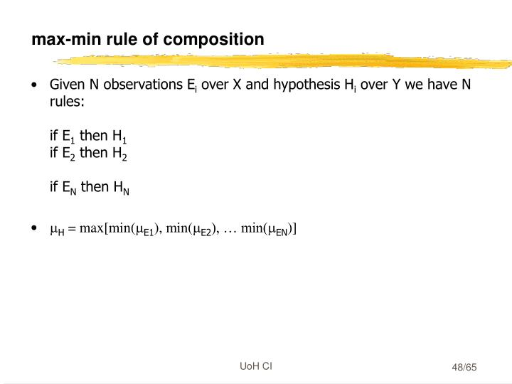 max-min rule of composition