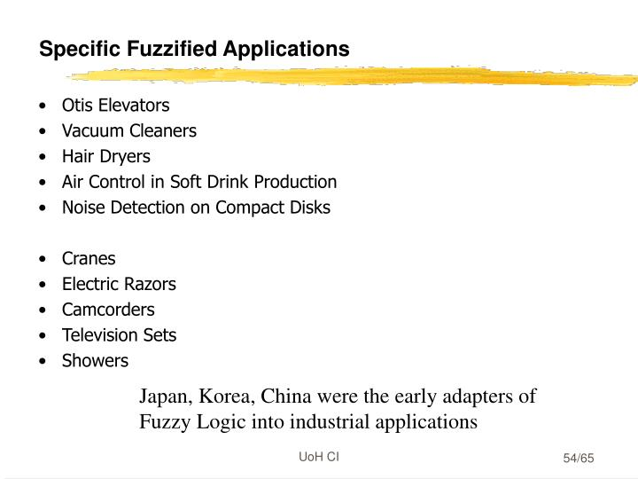 Specific Fuzzified Applications