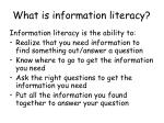 what is information literacy