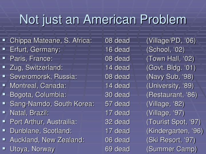 Not just an American Problem