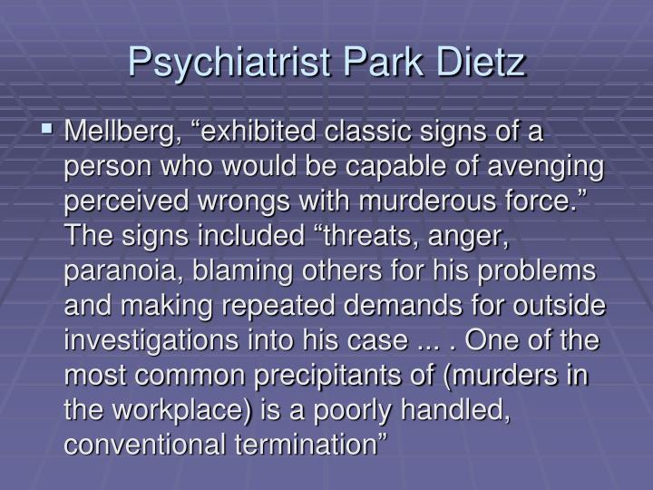 Psychiatrist Park Dietz