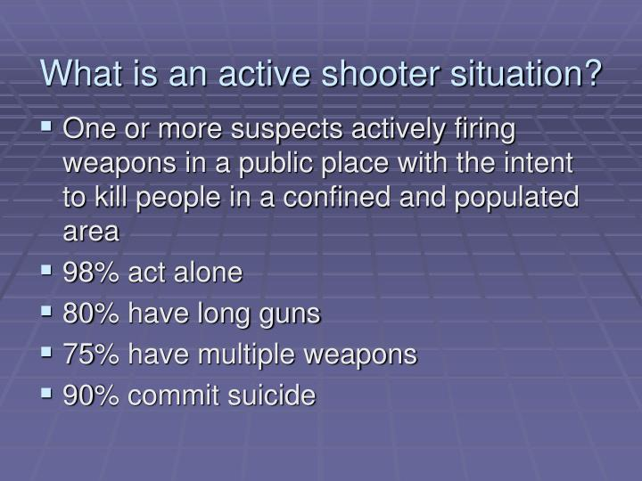 What is an active shooter situation?