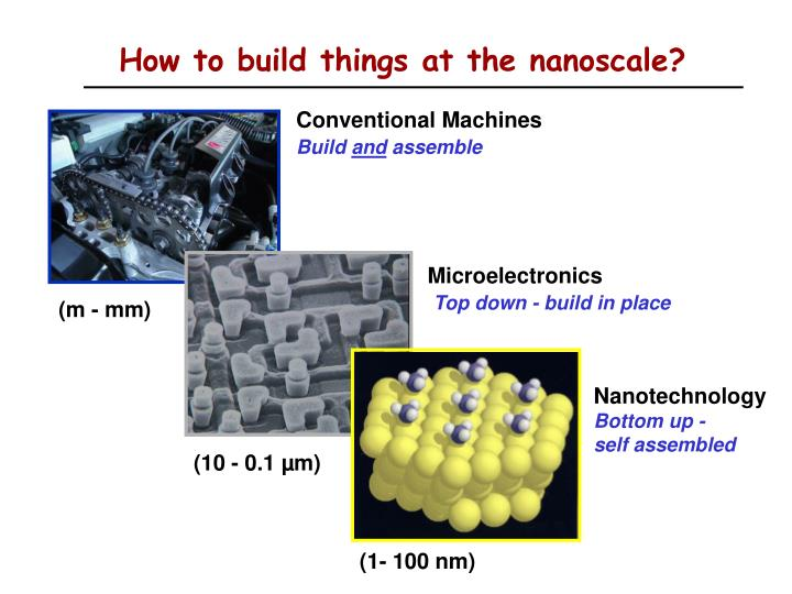 How to build things at the nanoscale?