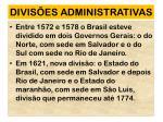 divis es administrativas