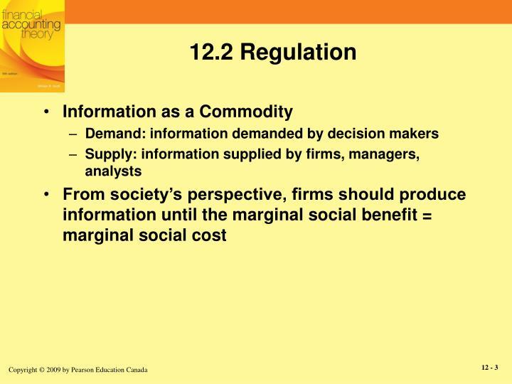 12.2 Regulation
