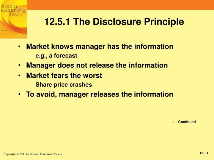 12.5.1 The Disclosure Principle