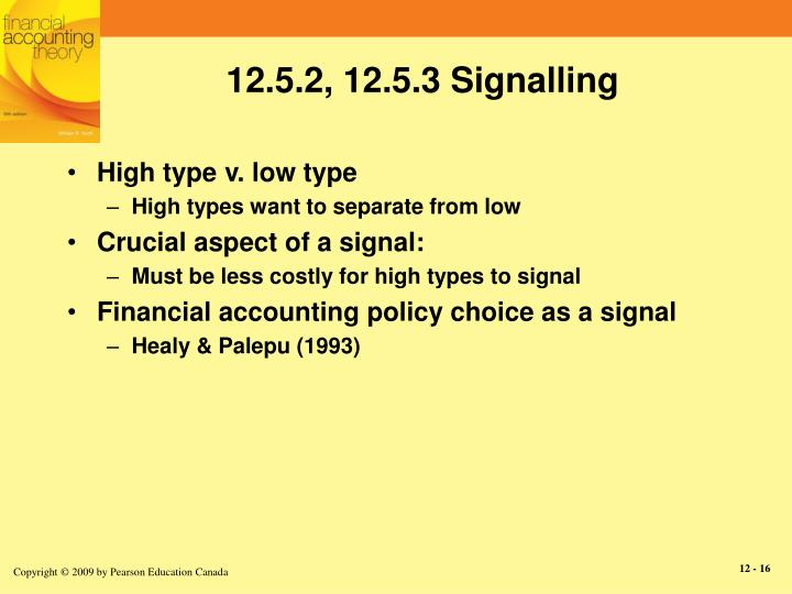12.5.2, 12.5.3 Signalling