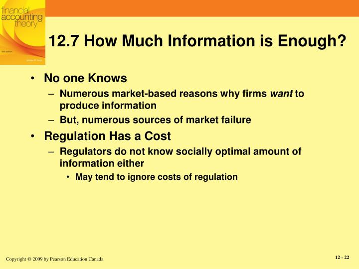 12.7 How Much Information is Enough?