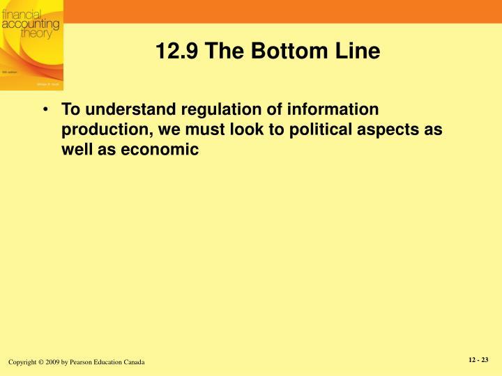 12.9 The Bottom Line
