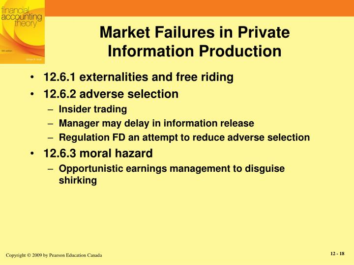 Market Failures in Private Information Production