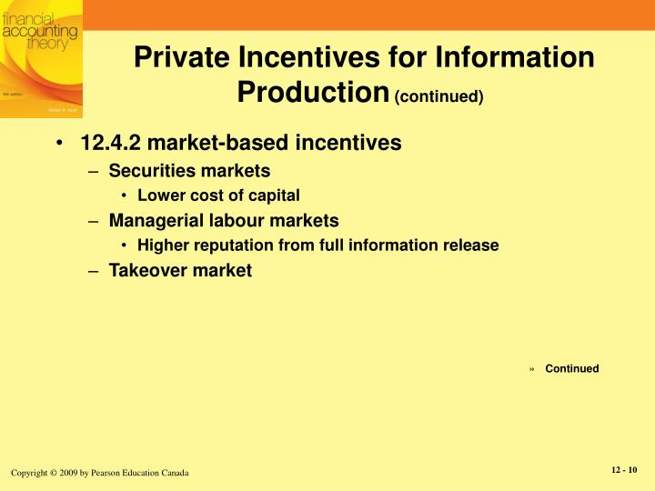 Private Incentives for Information Production