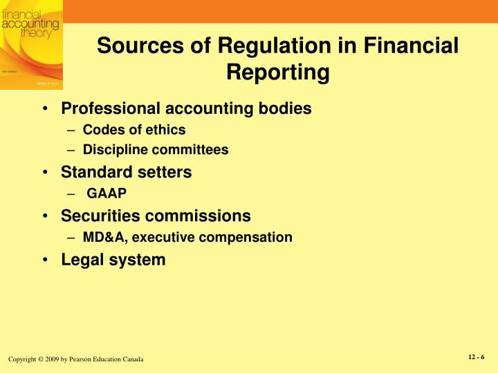 Sources of Regulation in Financial Reporting