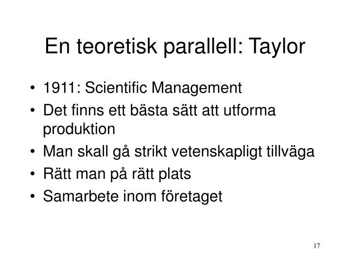En teoretisk parallell: Taylor