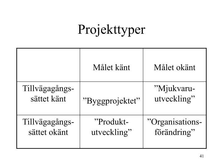 Projekttyper