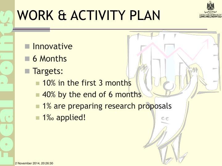 WORK & ACTIVITY PLAN