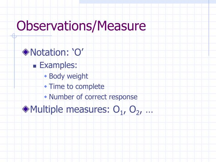 Observations measure