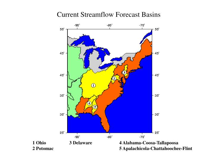 Current Streamflow Forecast Basins
