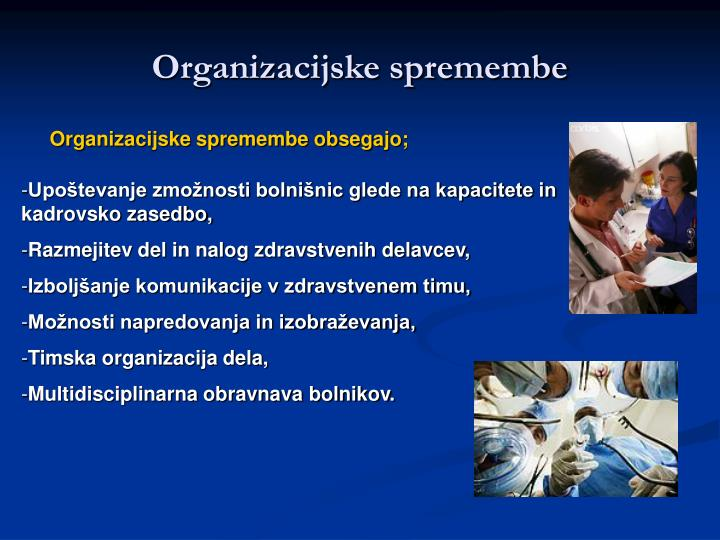 Organizacijske spremembe