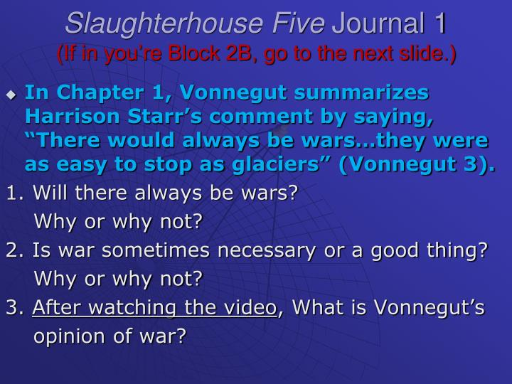 critical essay example of slaughterhouse five
