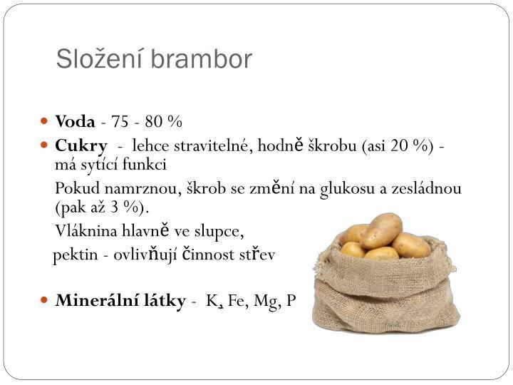 Složení brambor