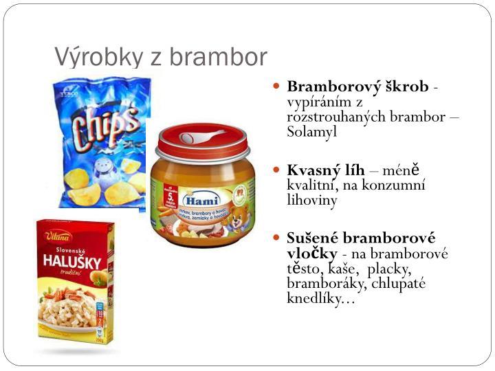Výrobky z brambor