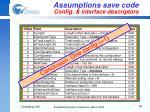 assumptions save code config interface descriptors1