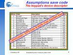 assumptions save code the keypad s device descriptor1