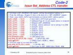 code 2 issue set address ctl transfer