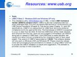resources www usb org