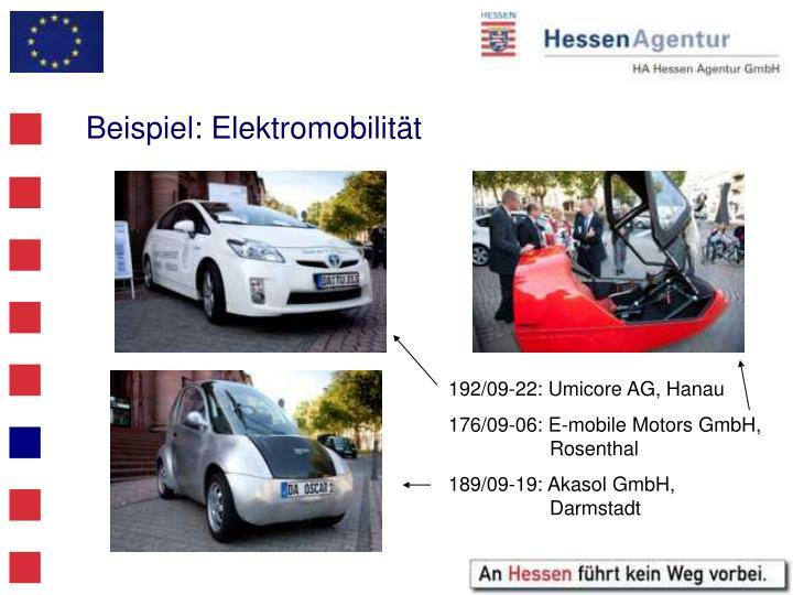 Beispiel: Elektromobilität