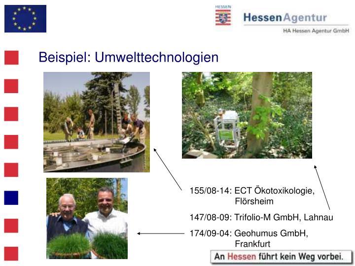 Beispiel: Umwelttechnologien