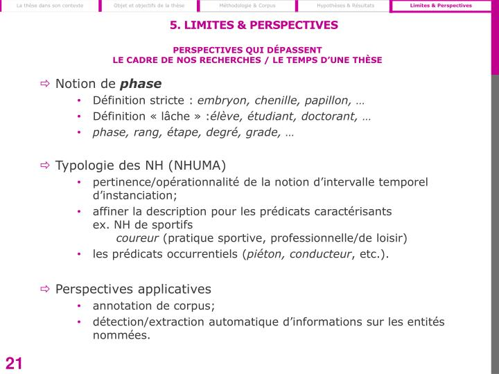 5. Limites & Perspectives