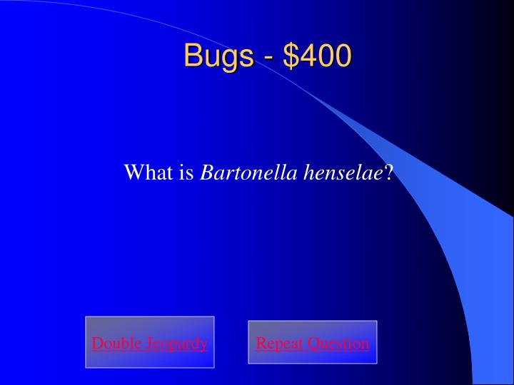 Bugs - $400