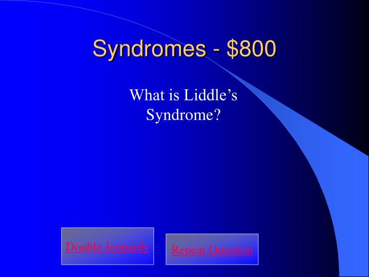 Syndromes - $800